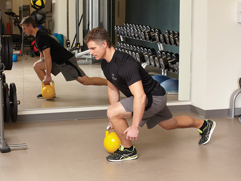 Single-Arm Weighted Walking Lunges
