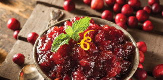 Candied Ginger Island Cranberry Sauce