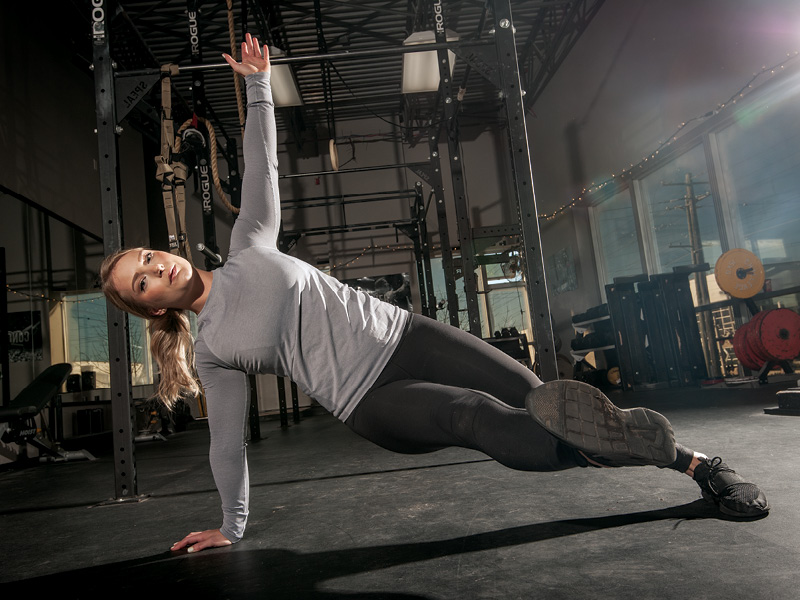 Side-plank Kick-through