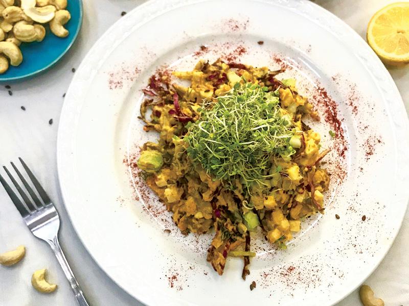 Dil and Sweet Potato Salad