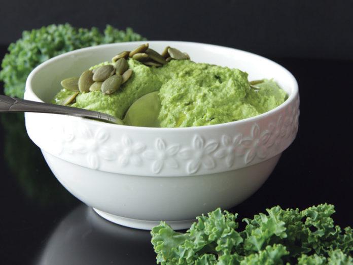 Kale and Hemp Hummus