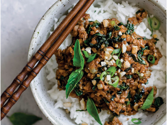 Thai Basil Tempeh Stir-Fry