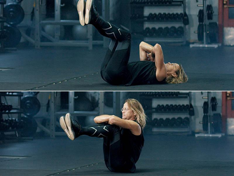 Sit-up Knee Lift