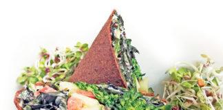 Buffalo Broccoli Bites and Caesar Salad Wraps