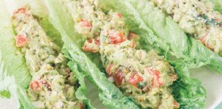 Mint Guacamole Lettuce Wraps