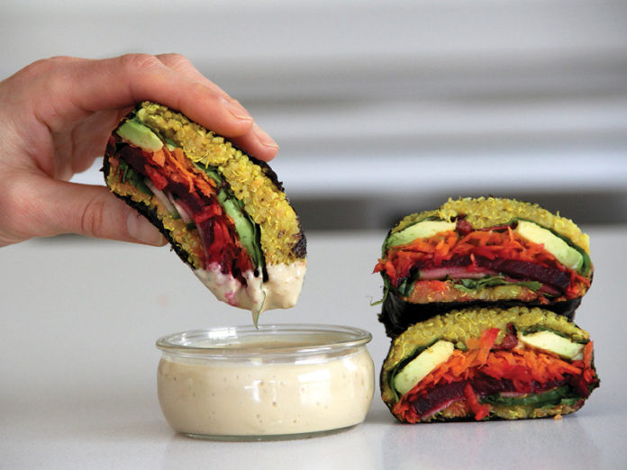 Vegan Quinoa Onigirazu