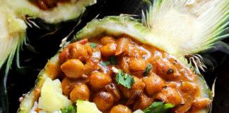 Vegan Chickpea Tikka Masala with Pineapple