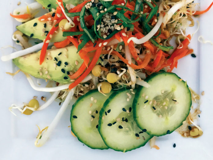 Wasabi Ginger Sprout Salad