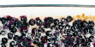 Coconut Blueberry Baked Crumble