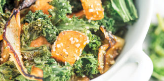 Kale Sweet Potato Quinoa Bowl