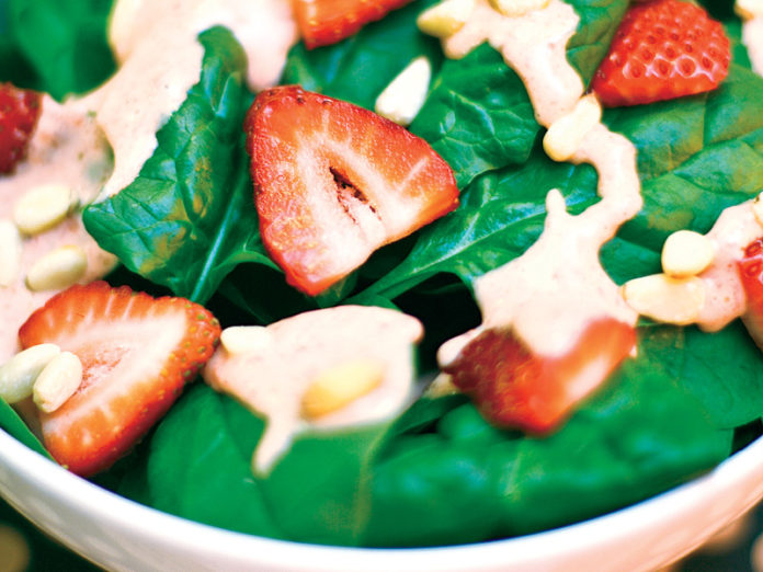 Baby Spinach Salad With Strawberry Vinaigrette
