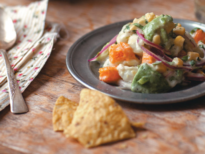 Halibut Ceviche with Coconut Milk & Clementines
