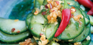 Cucumber Salad with Peanuts and Chile