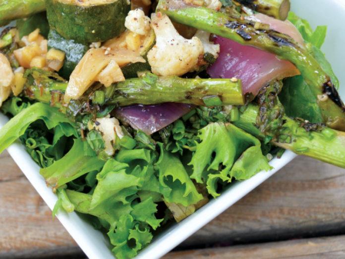 Marinated Spring Ginger Veg & Dandelion Salad