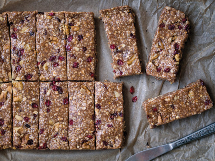 No Bake Cherry Almond Energy Bars