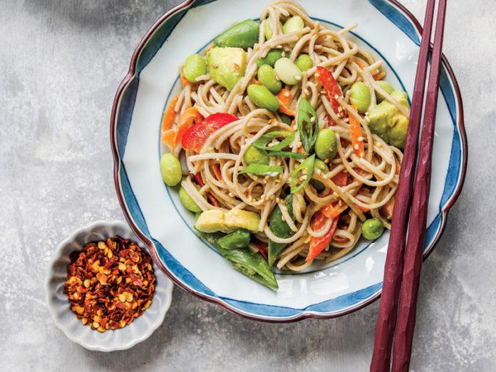 Miso Tahini Noodle Salad