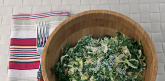 Shredded Brussels Sprouts & Kale Salad