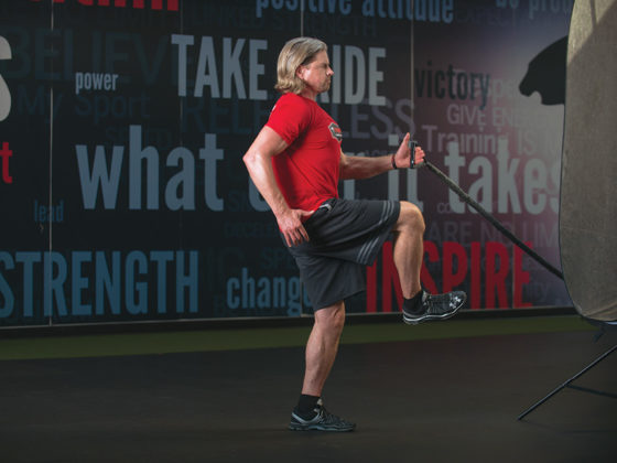 Open step lunge with wide forehand fly