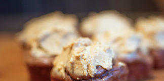 Sweet Potato Cupcakes with Peanut Butter Frosting