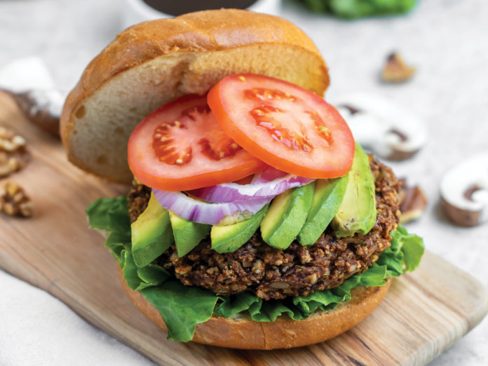 High Protein Teriyaki Mushroom Burgers