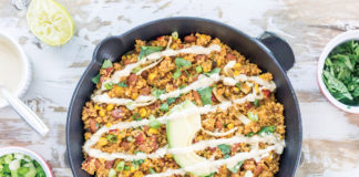 Quinoa Queso Skillet With Chipotle