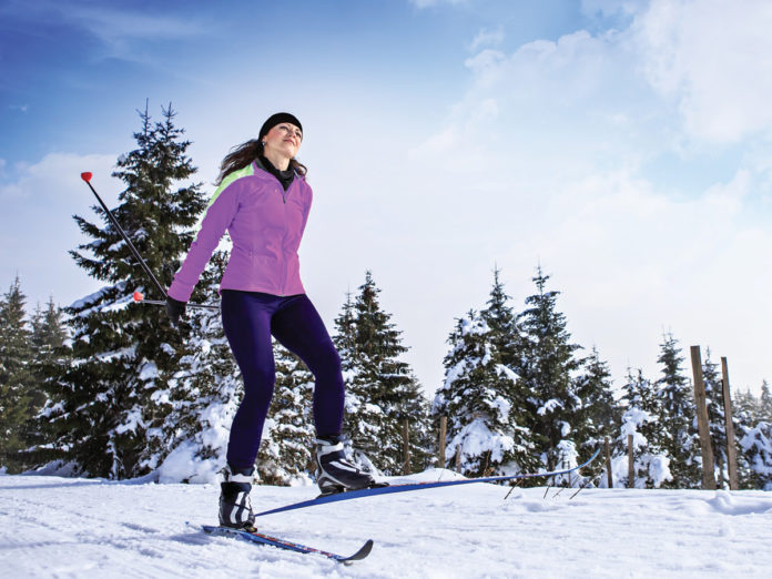 Woman Crosscountry Skiing