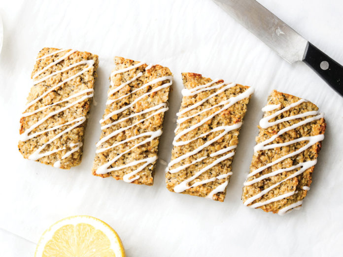 Lemon Poppy Seed Oat Breakfast Bars