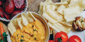 Pumpkin Hummus with Roasted Garlic