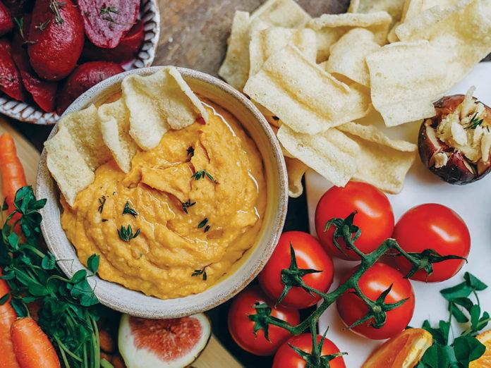 Pumpkin Hummus with Roasted Garlic