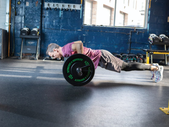 Barbell Rollout with a Push-up