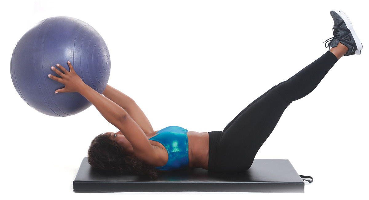 Stability Ball Pass Off