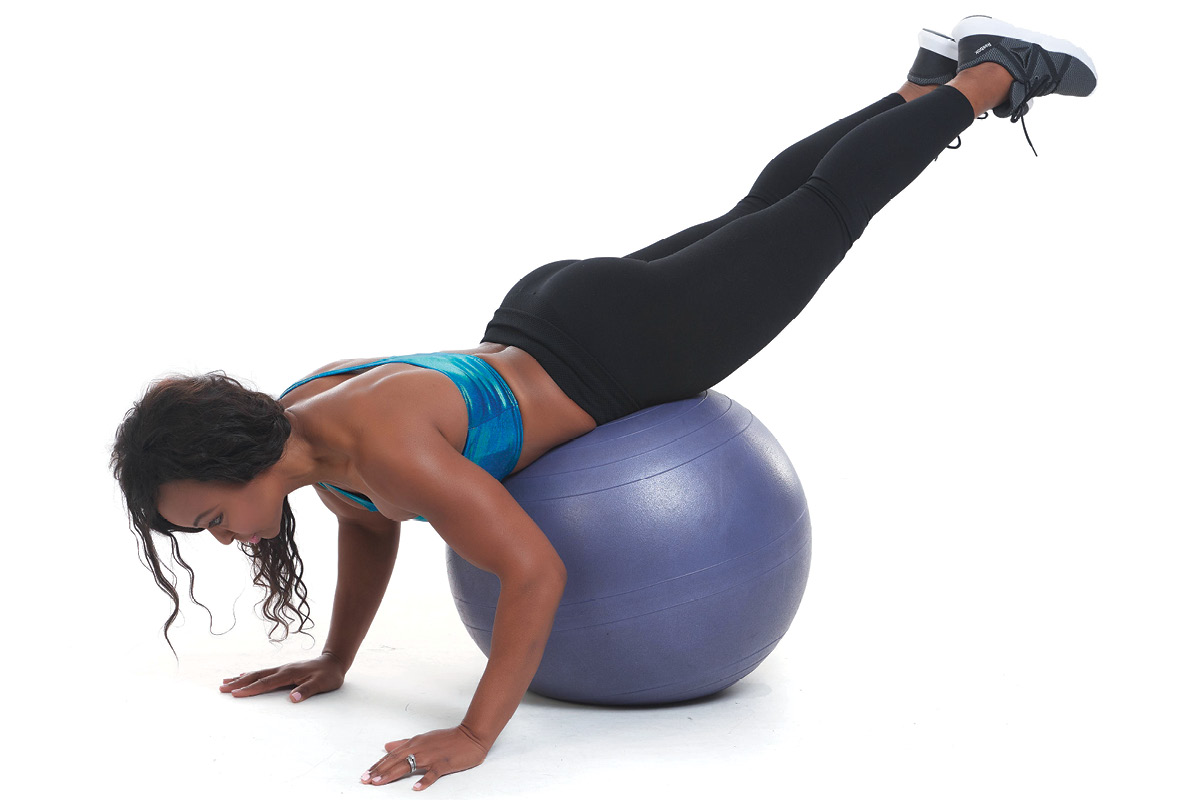Stability Ball Reverse Hyperextension