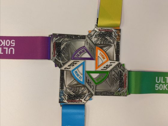 Scotiabank Calgary Marathon - Relay Medals Together