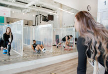 Plexiglass dividers for fitness studios and gyms like Fit in 30 Minutes
