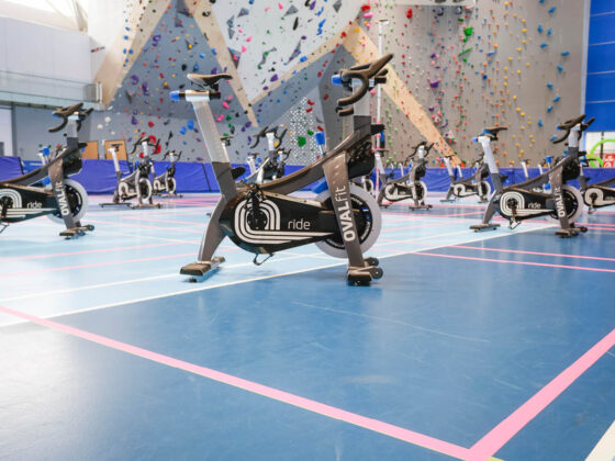 Social distancing for spin class at the Richmond Olympic Oval