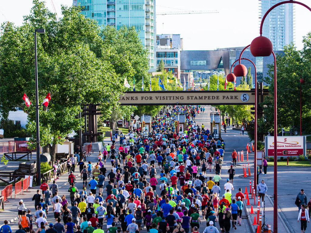 Calgary's Stampede Park is home to the annual Scotiabank Calgary Marathon