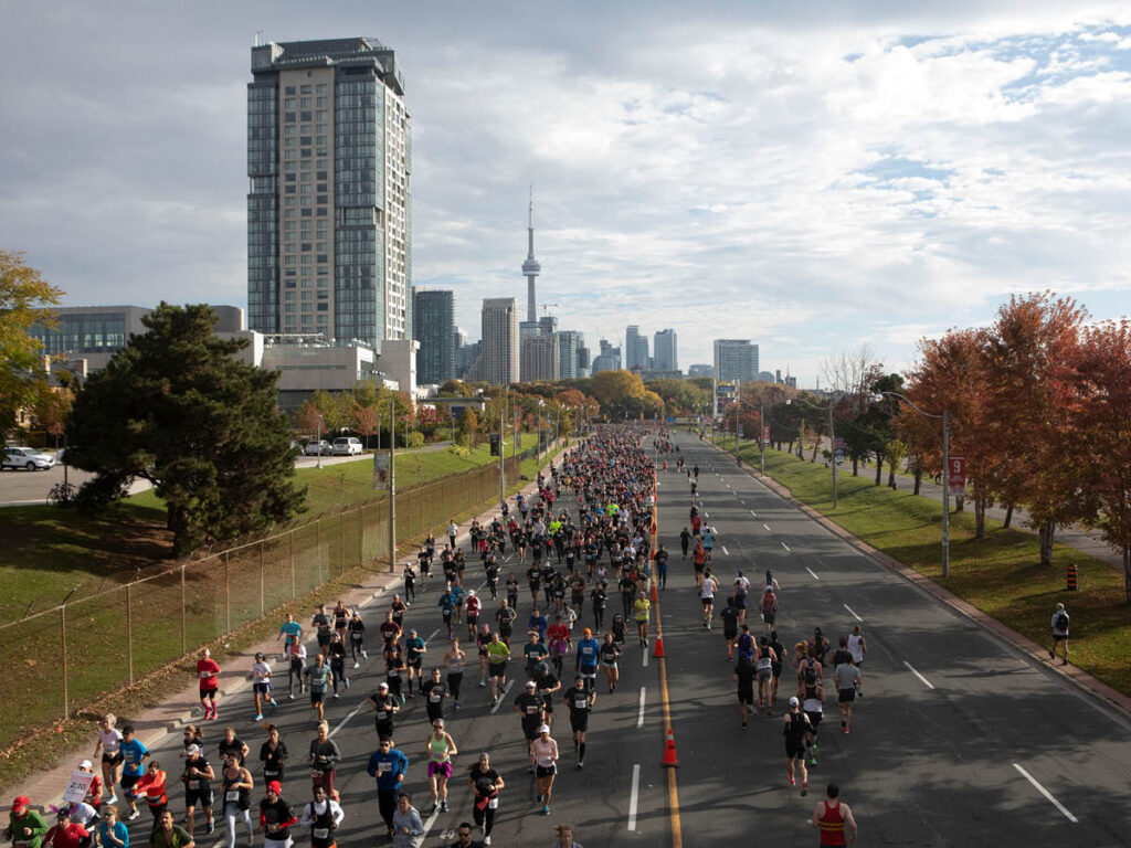 Participants at the Scotiabank Toronto Waterfront Marathon