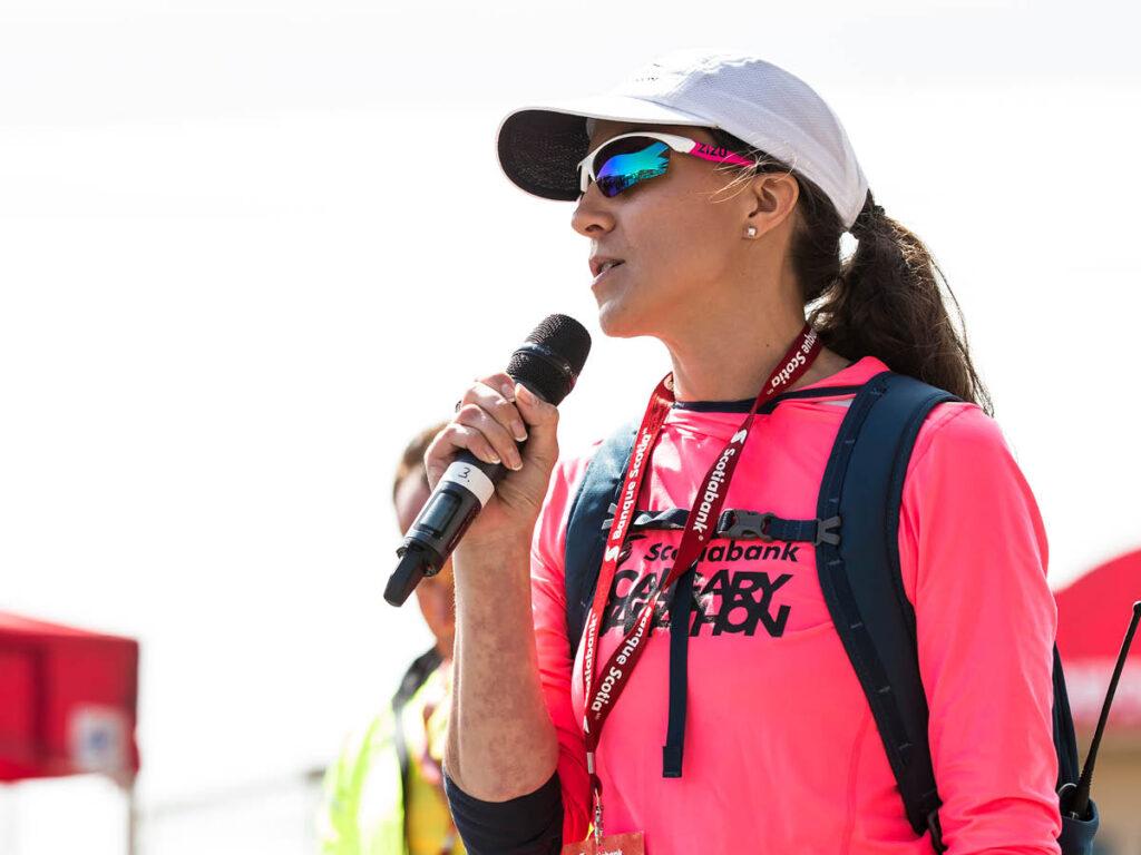 Kirsten Fleming, Executive Director of the Scotiabank Calgary Marathon