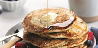 Buttermilk Blueberry Pancakes Feature
