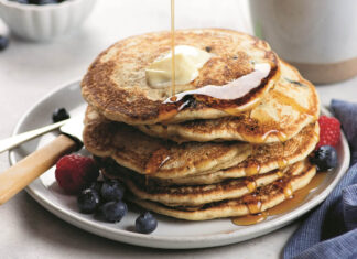 Buttermilk Blueberry Pancakes Feature
