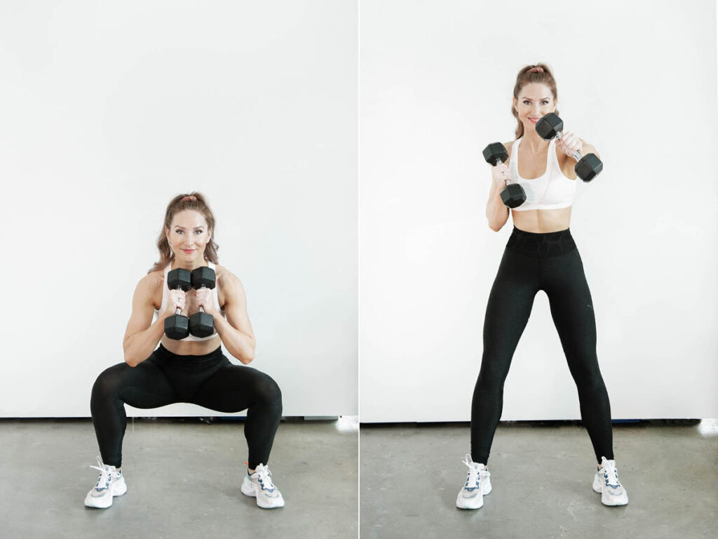 Jefferson Squat withDumbbell Punch