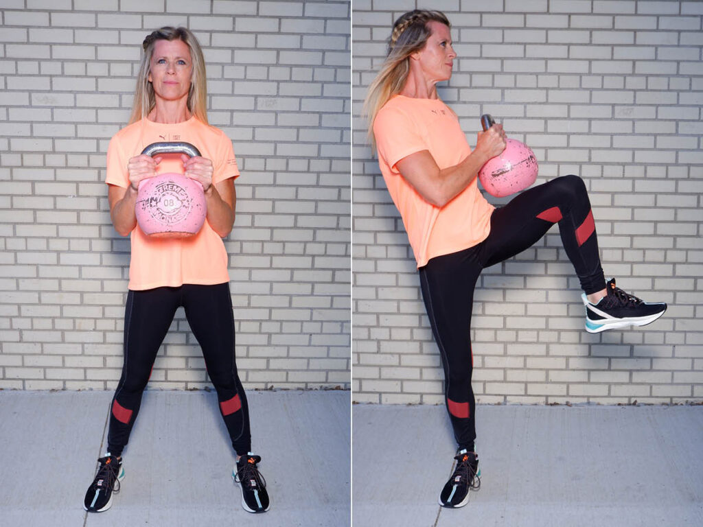 Kettlebell Knees