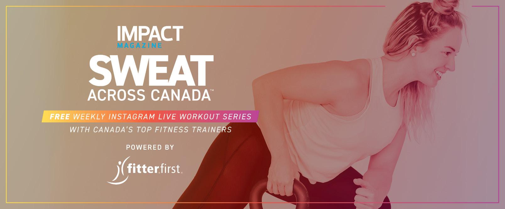Sweat Accross Canada Banner