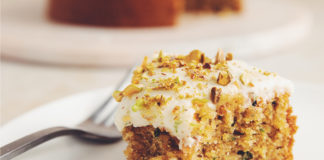 Vegan Zucchini Pistachio Cake