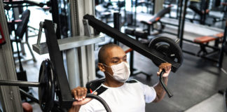 Working out with a reusable mask