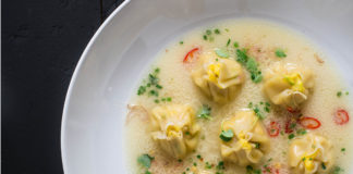Coconut Corn Dumpling Soup