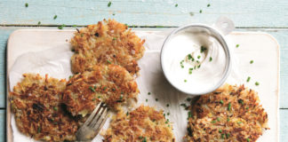 Killer Crispy Latkes with Sour Cream & Chives