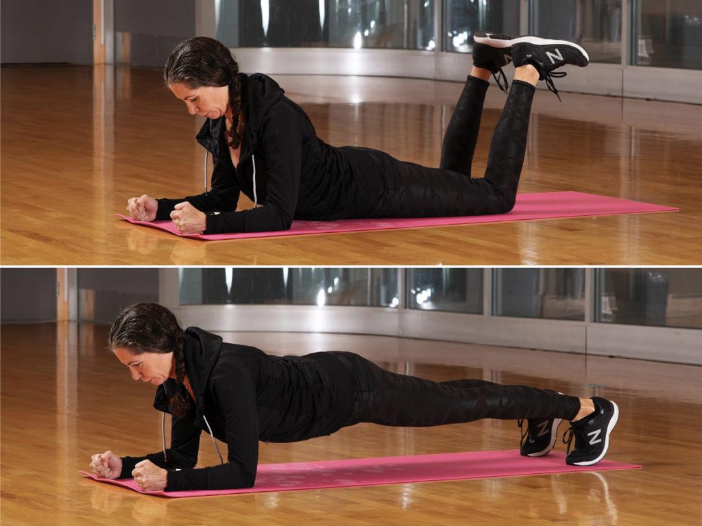 Russian Kettlebell Challenge Plank