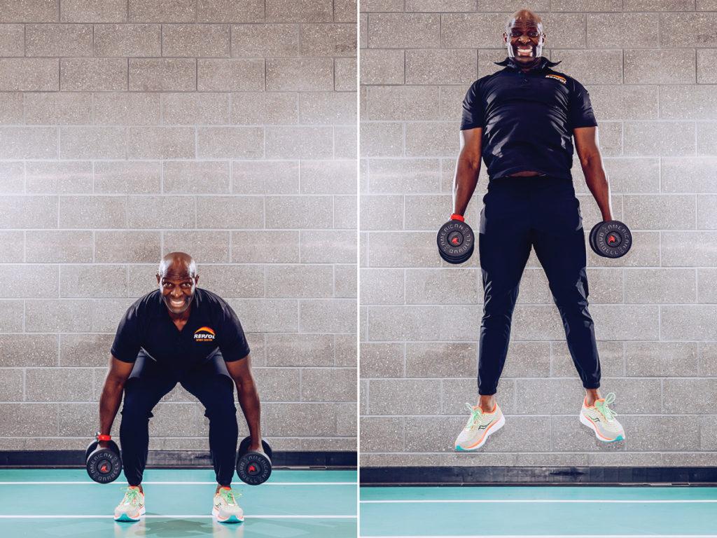 Jump Squats w/ Dumbbells