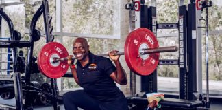 Philip Ndugga, performing a Bulgarian split squats